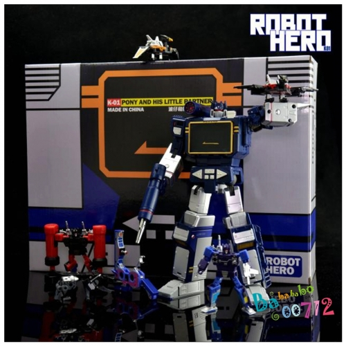 Robot hero K01 SOUND WAVE KO G1 Transformers action figure toy with tape