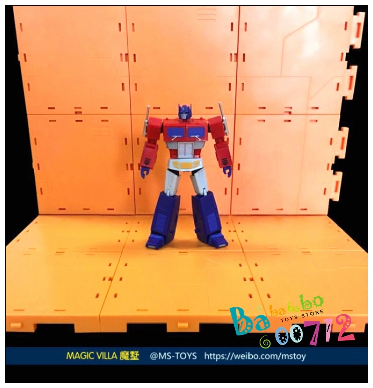 MS-TOYS Magic Villa Garage Background Upgrade kits for transformers toy 12pc set