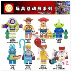 Toys mini block action figure woody jessie buzz lightyear Alien Bo peep 9pcs set