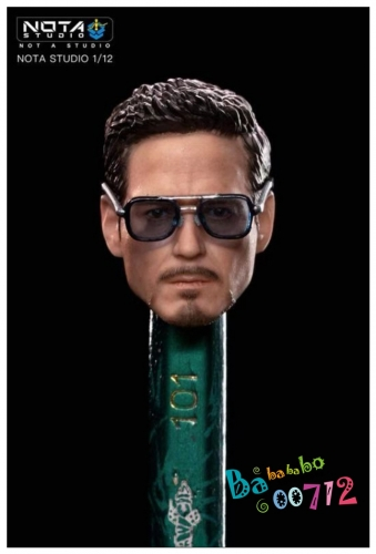 New Nota Studio IN TOY 1/12 Iron Man Mark 50 Tony Stark Head kit Repaired SHF Scale small size